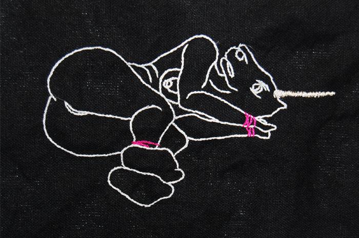 Black Unicorn Embroidery   Spike Dennis