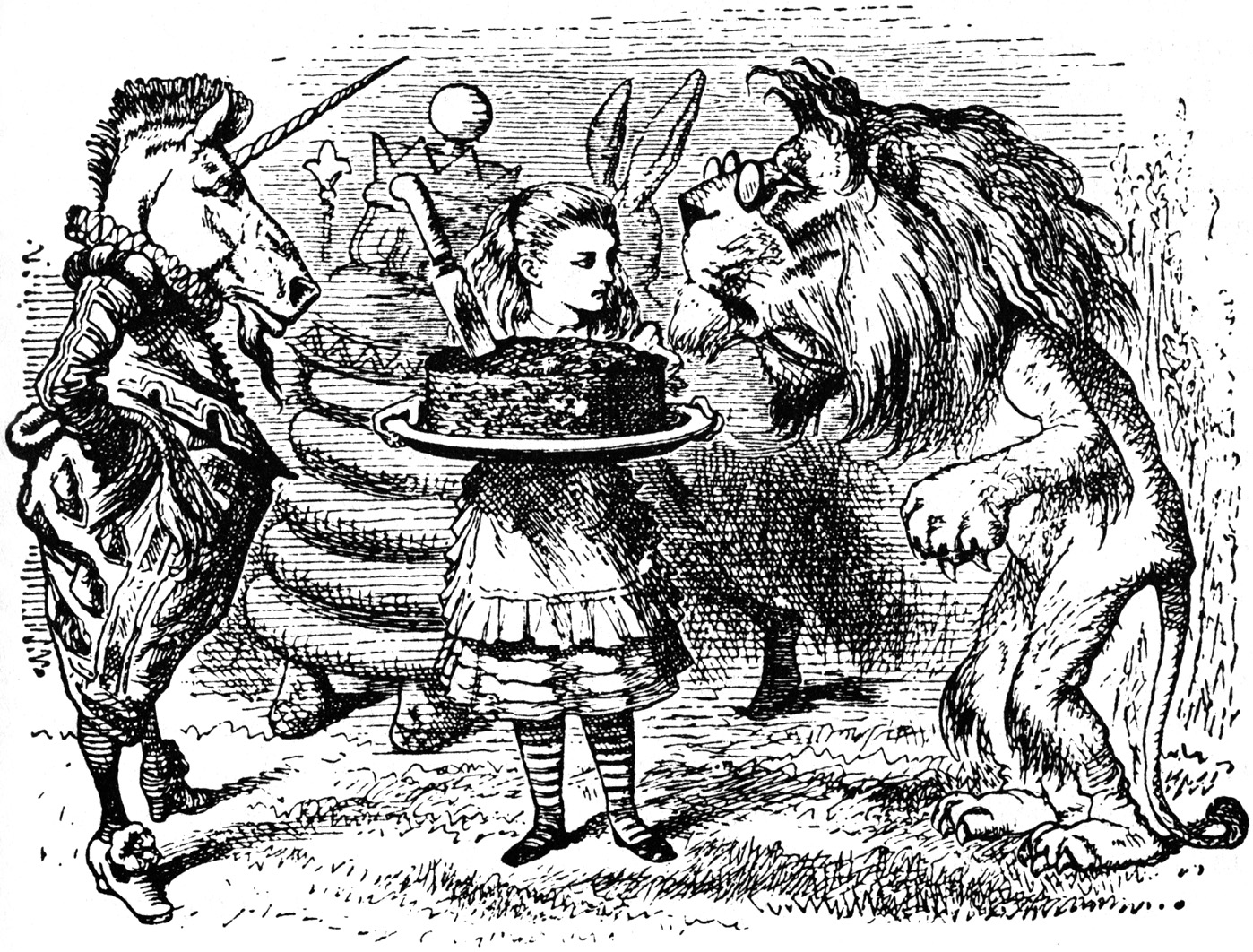 John Tenniel's illustration for Through The Looking Glass