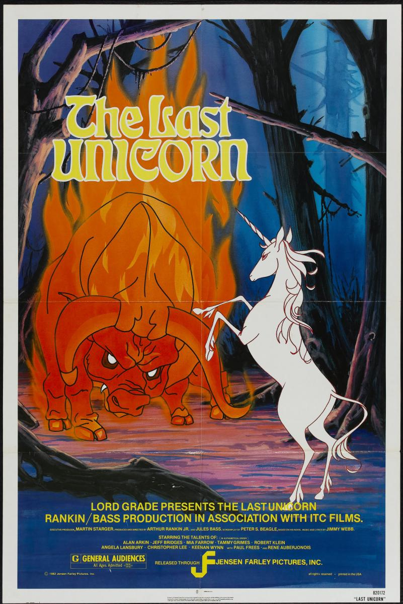 The Last unicorn Film Poster