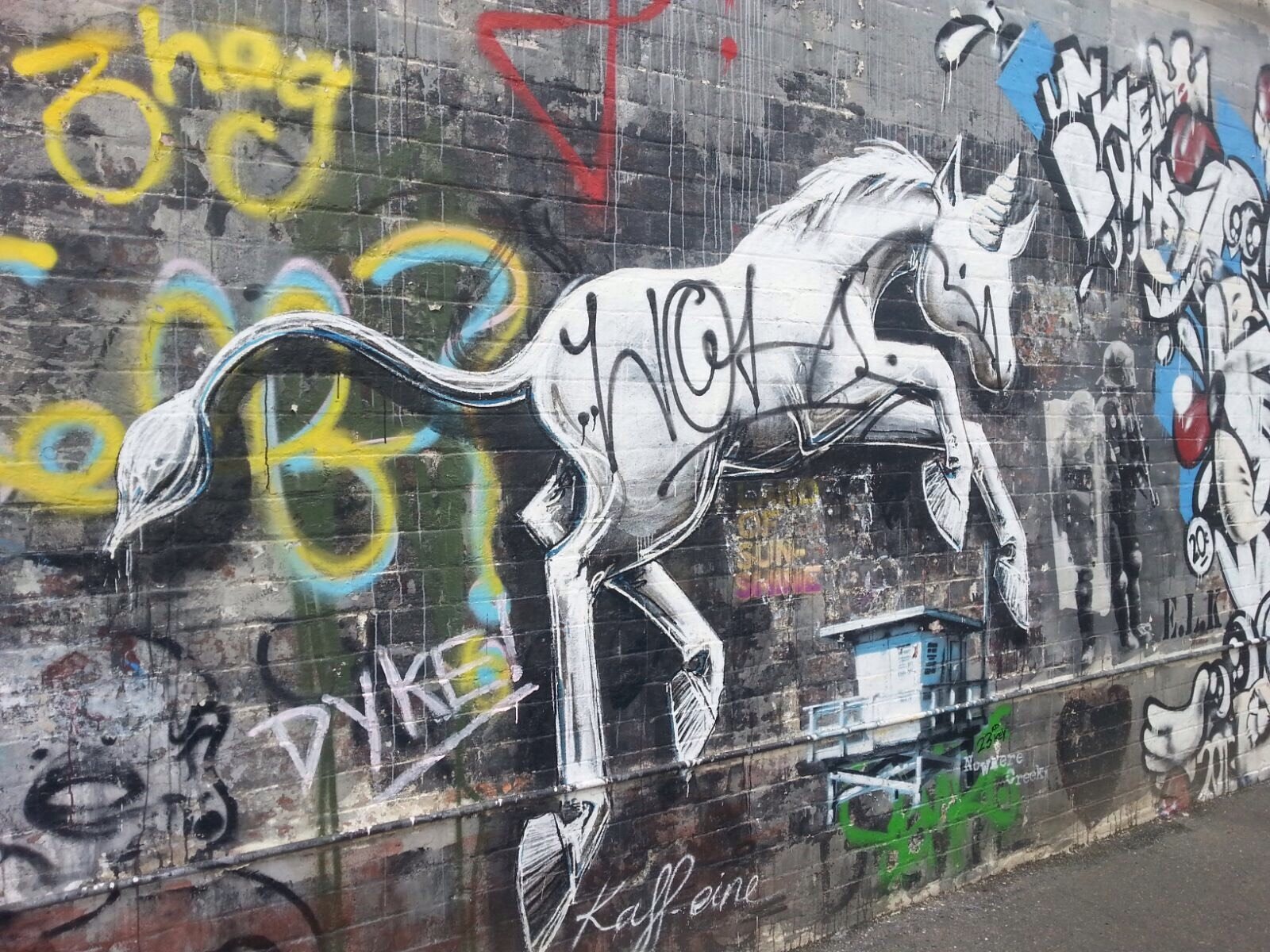 Unicorn Graffiti Melbourne