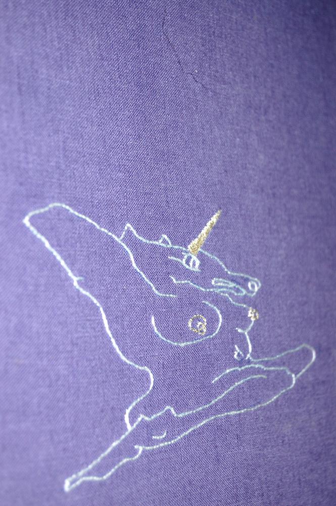 Anamorphic Unicorn Sketch by Spike Dennis