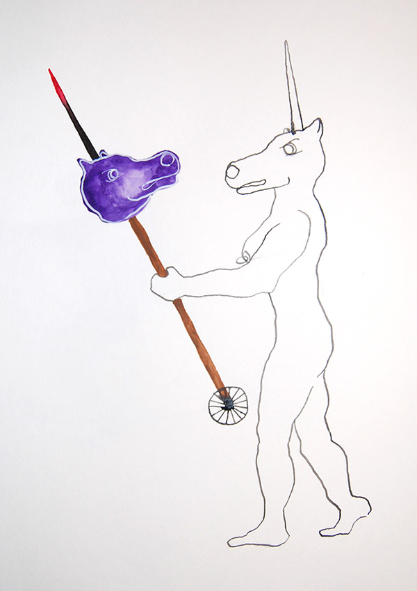 Unicorn with a Hobby Horse